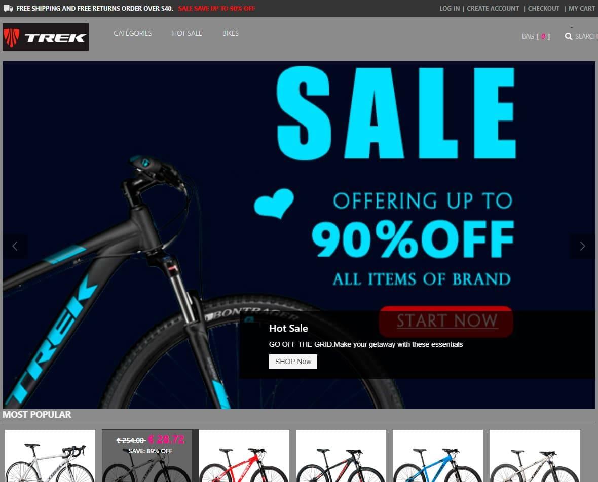 Trekvipa.com Tienda Online Falsa Bicicletas Trek