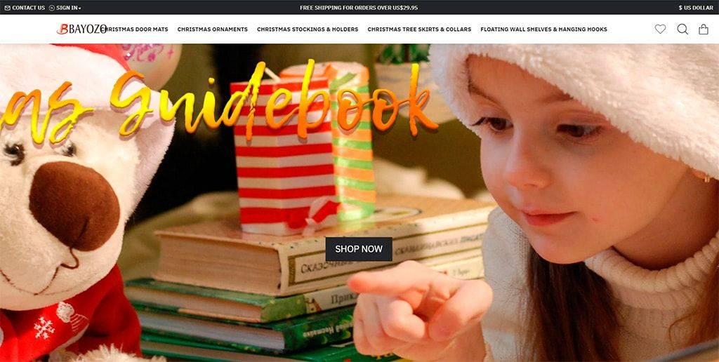 Bayozo.com Tienda Online Falsa Articulos Navidad
