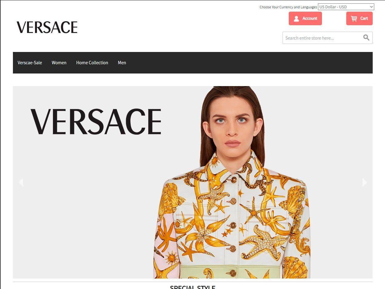 Classical Versace.com Tienda Online Falsa Moda Versace