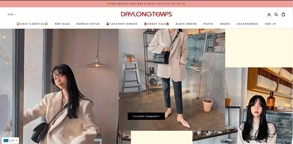 Daylongtemps.com Tienda Online Falsa Moda