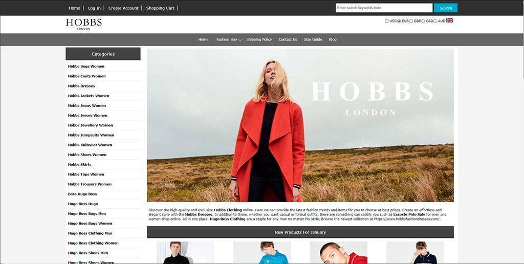 Hobbsfashiondresses.com Tienda Online Falsa Moda Hobbs