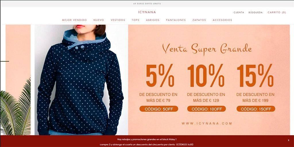 Icynana.com Tienda Online Falsa Moda