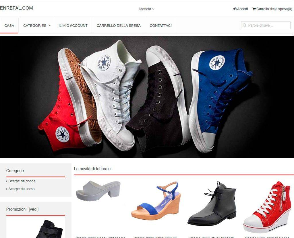 Enrefal.com Tienda Online Falsa Calzado