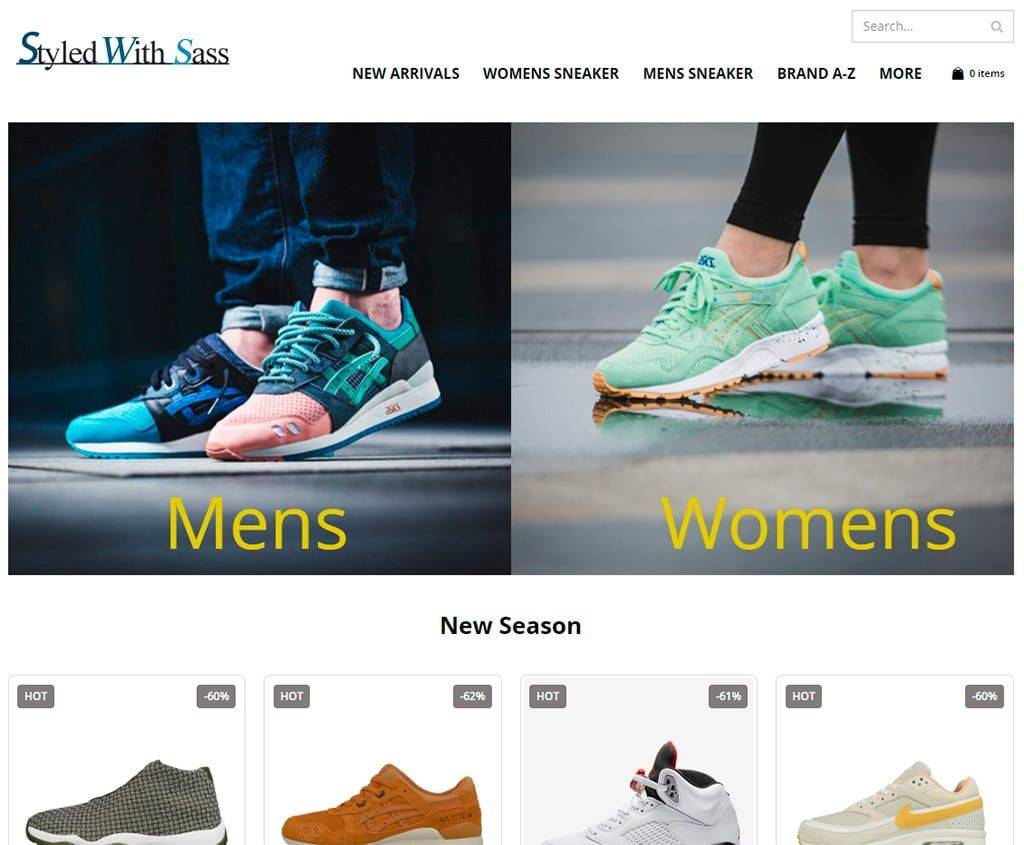 Styledwithsass.com Tienda Online Falsa Zapatillas Deportivas