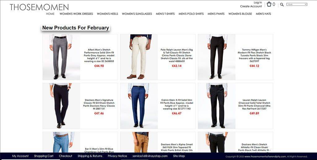 Thosemomentsofserendipity.com Tienda Online Falsa Moda Hombre Mujer