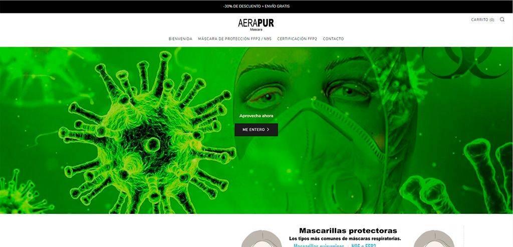 area-mascara.com Tienda Online Falsa Mascarillas Proteccion
