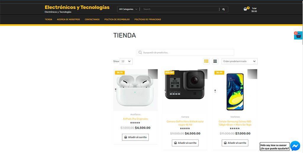 Electronicosytecnologias.com Tienda Online Falsa Tecnologia