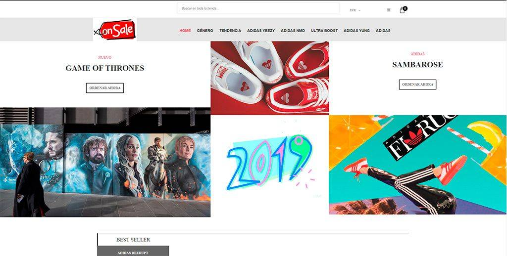 Yeezybaratas.com Tienda Online Falsa Zapatillas Adidas