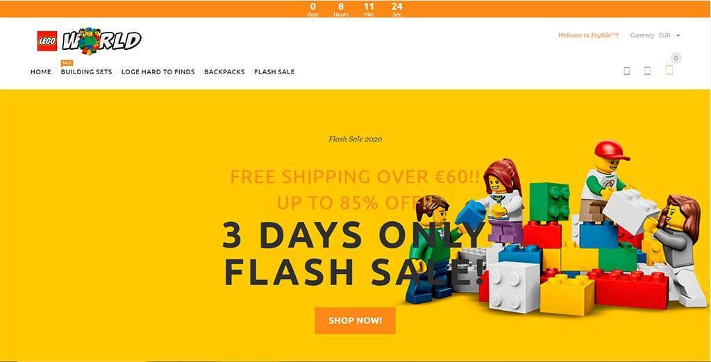 Fun.nabcto.com Tienda Online Falsa Lego