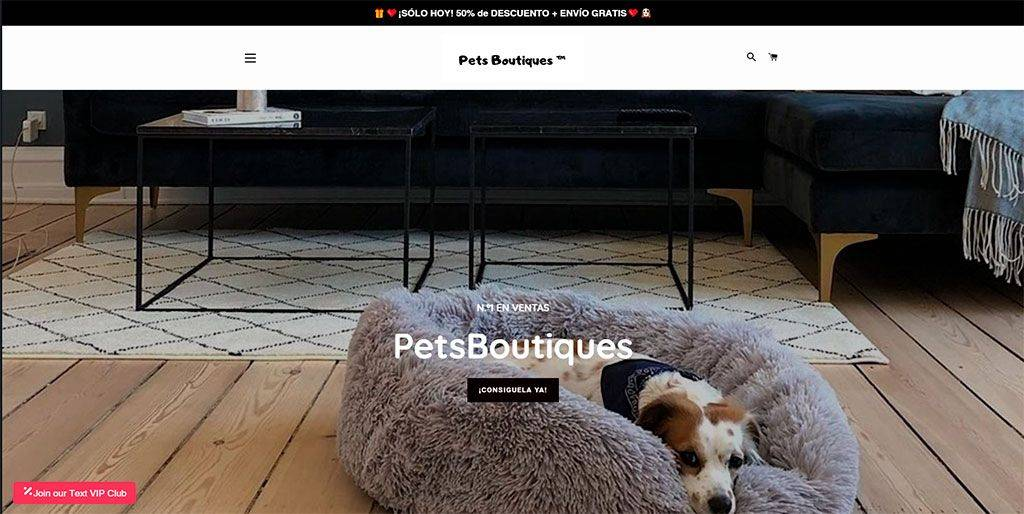 Petsboutiques.com Tienda Online Falsa Camas Para Perros