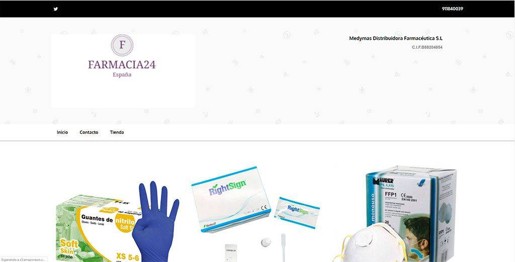Tufarmarcia.com Tienda Online Falsa Productos Coronavirus
