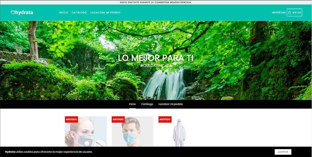 Tiendahidrata.com Tienda Online Falsa Mascarillas Proteccion