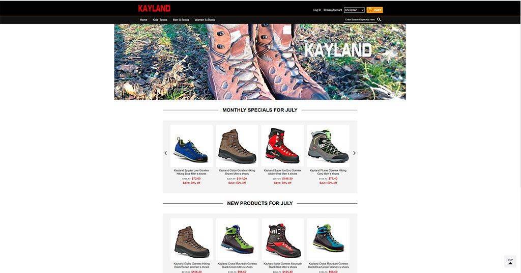 Kaylandbootsusa.com Tienda Online Falsa Calzado Kayland