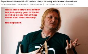 John All, U.S. climber, survives fall into Nepal mountain crevasse - World - CBC News 2014-05-23 13-41-35