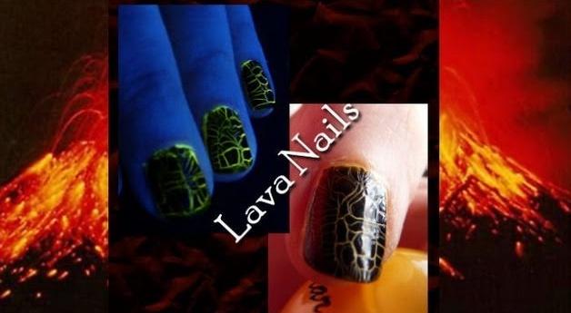 Lava Effect Nail Tutorial