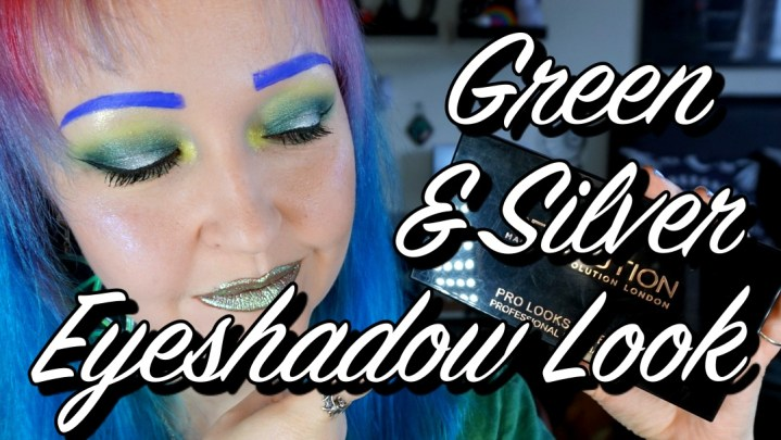 Green and Sliver Halo Eyeshadow