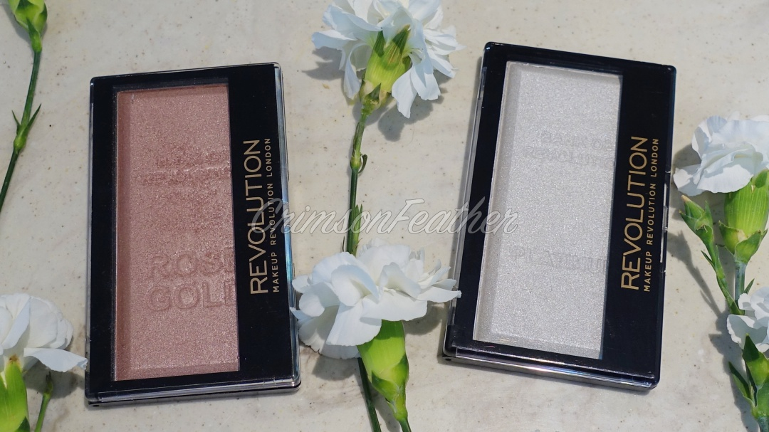 Revolution Beauty Ingot Highlighters in Rose Gold & Platinum Review & Swatch