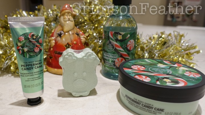 Body Shop Peppermint Candy Cane Range Review