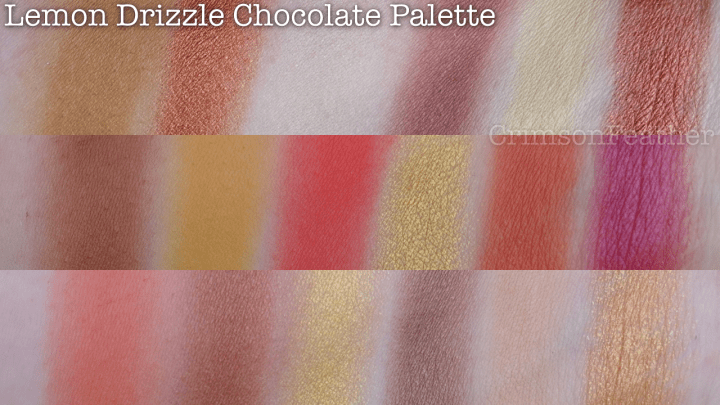 I-Heart-Revolution-Lemon-Drizzle-Chocolate-Palette-Swatches