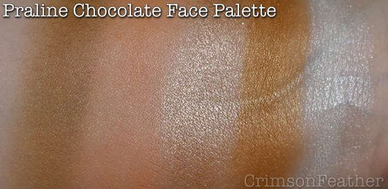 I-Heart-Revolution-Praline-Chocolate-Face-Palette-Swatches
