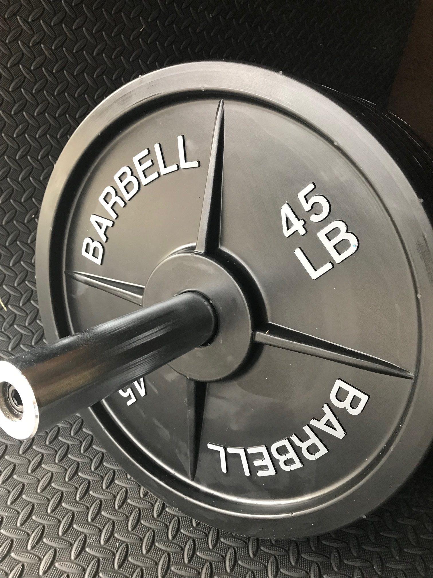 Fake Weights 45 Lb Barbell Weight Plates 5 Pairs Fake