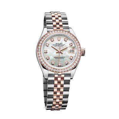 ساعة رولكس أويستر بربتشوال ليدي ديت جست المصنوعة من فولاذ أويستر ستيل وذهب إيفروز بقطر 28مم
