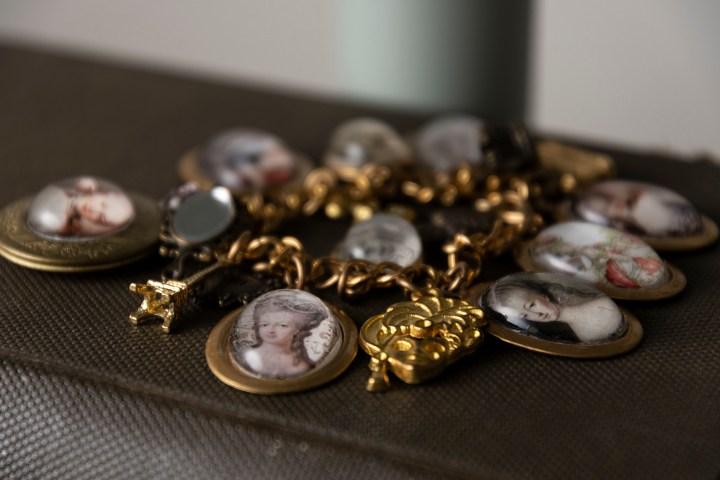 Marie Antoinette charm bracelet