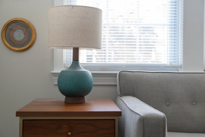 Mid Century Modern Table Lamp in Living Room