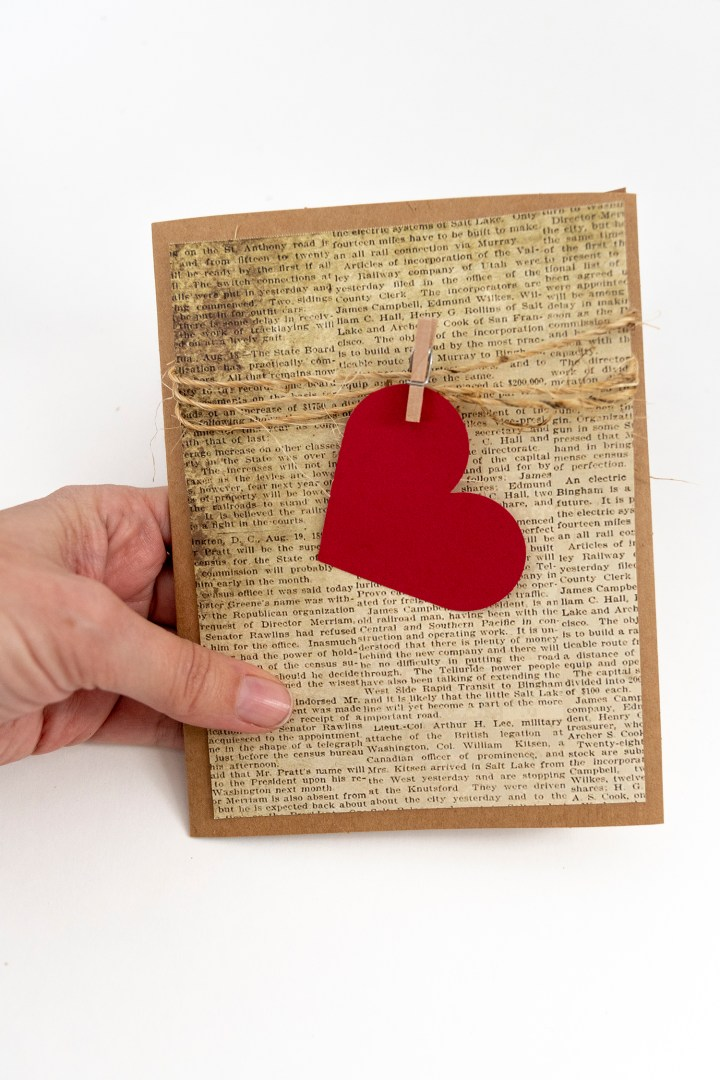 Handmade Valentine Card Tutorial DIY
