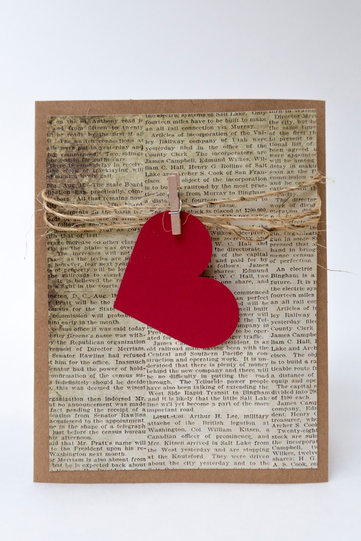 Handmade Valentine Card Tutorial