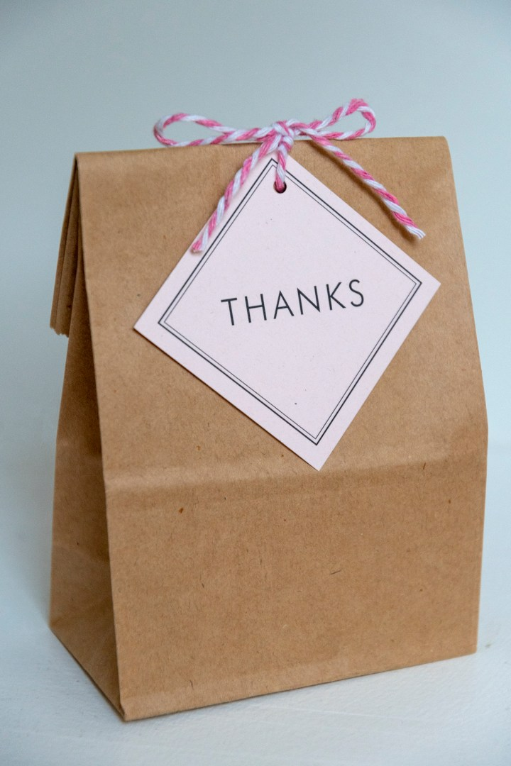Thank You Bags with Free Printable Tags