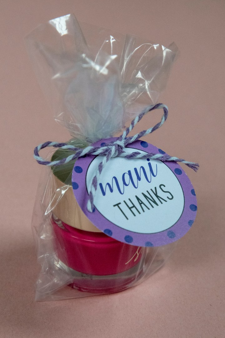 Free Printable Mani Thanks Gift Tags for Teacher Gift