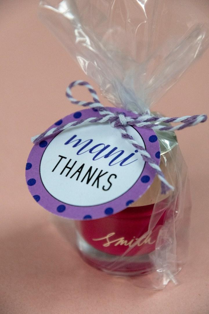 Mani Thanks Free Printable Gift Tags