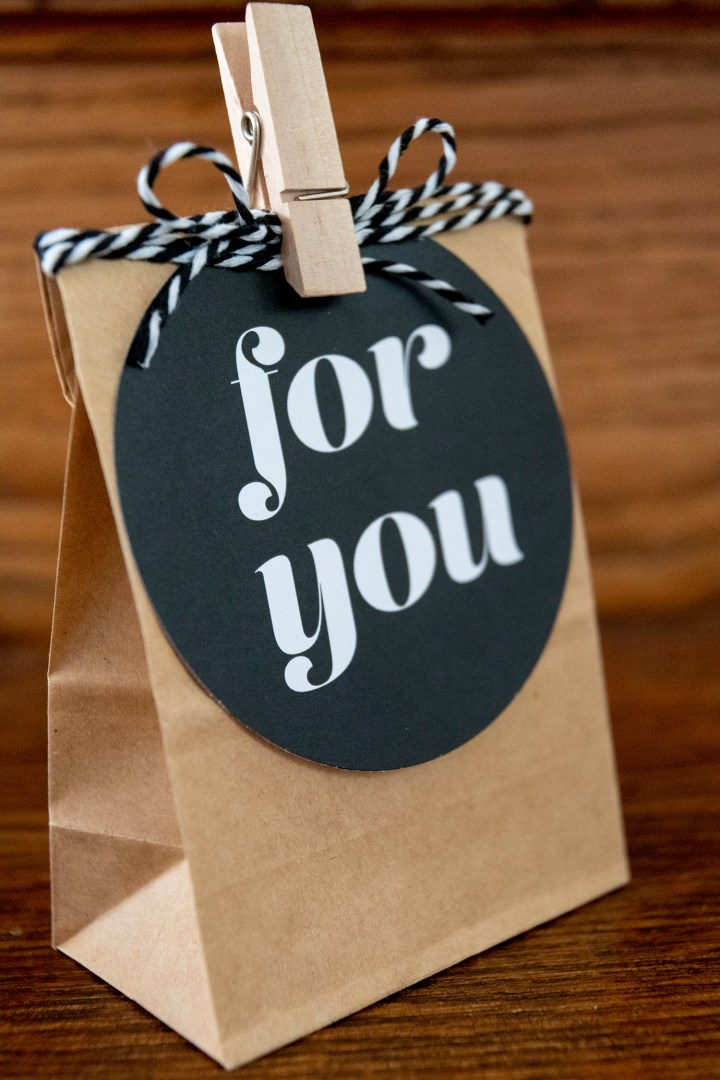 "Vintage style gift tags ""For You"""