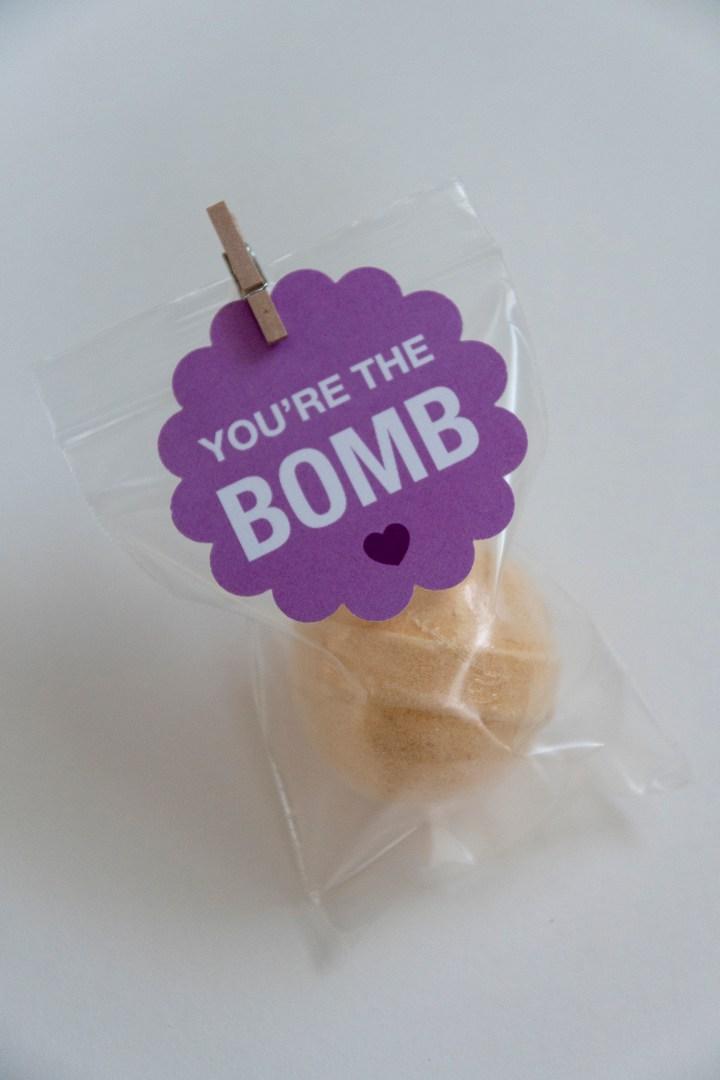 Bath Bomb Tags for Teacher Gift