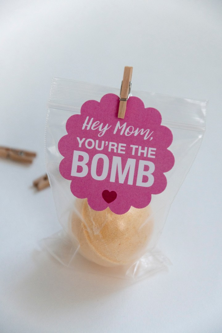 Mom, You're the Bomb Gift Tags