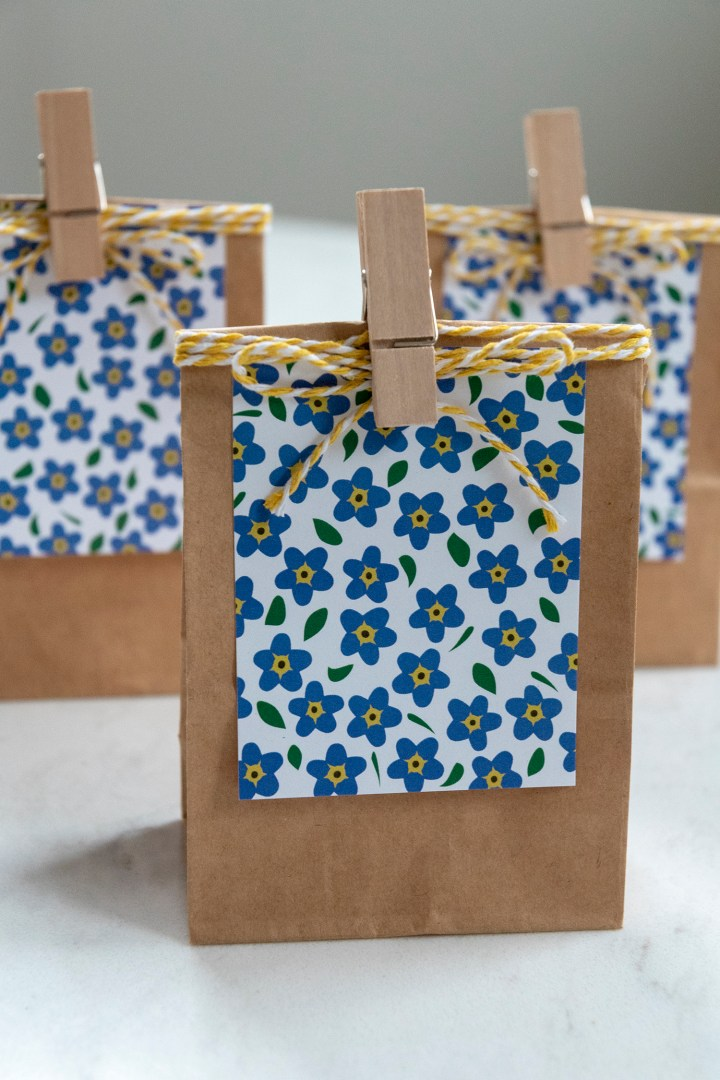 Forget Me Not Free Printatable Gift Tags