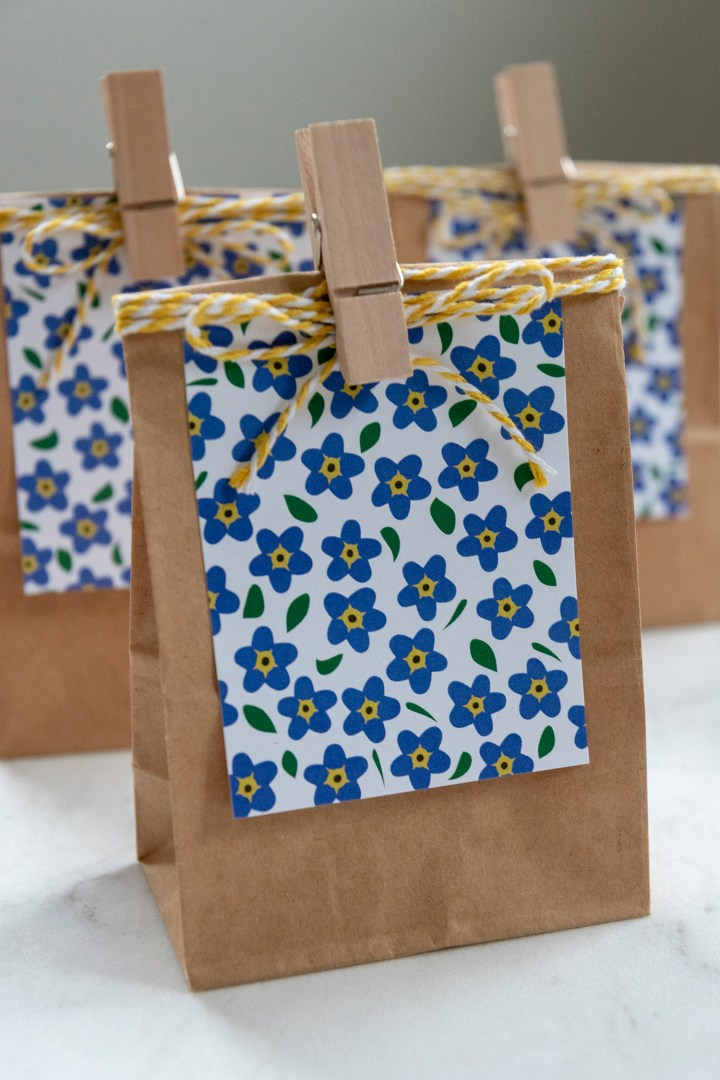Free Printable Friend Forget Me Not Tags