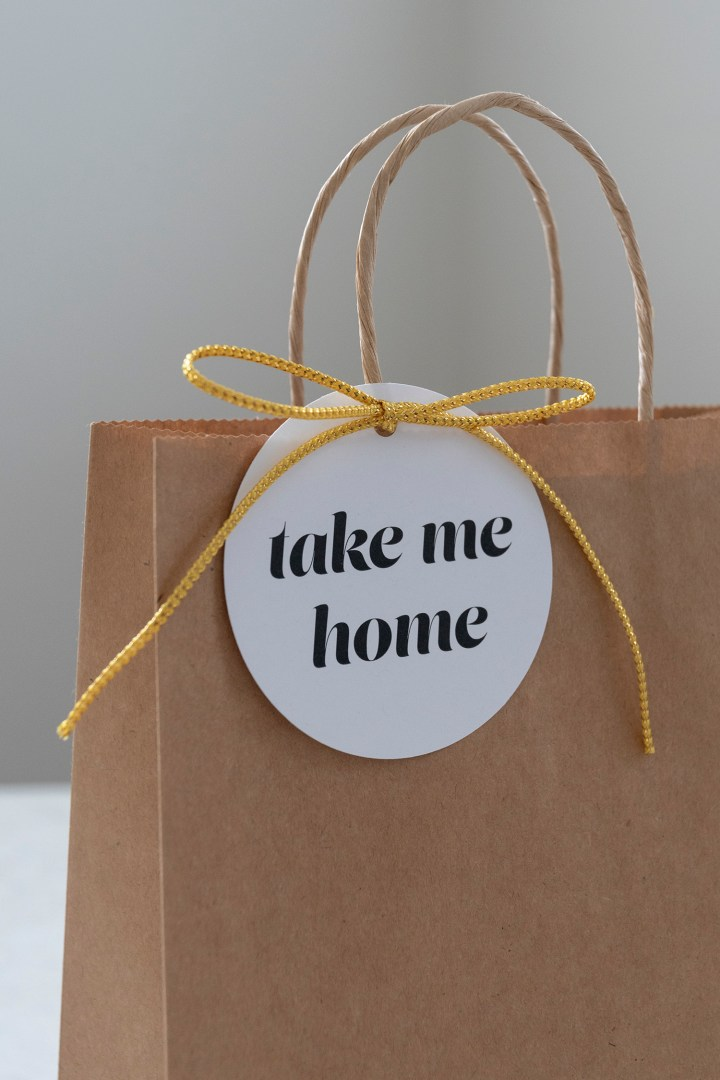 Free Printable Take Me Home Favor Tags