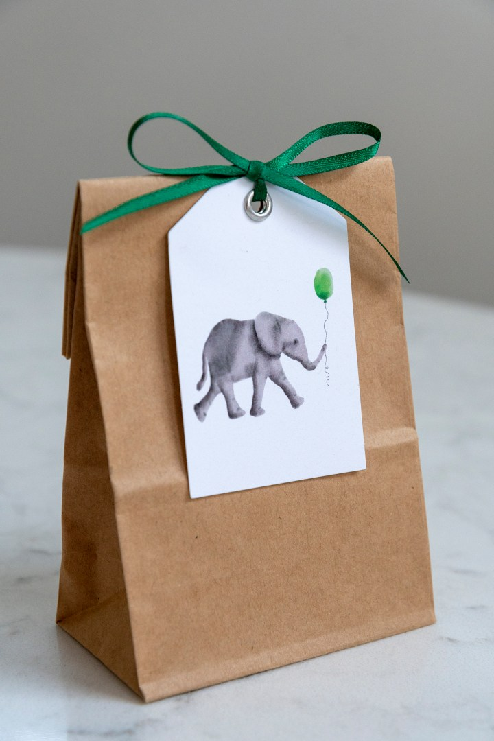 Free Printable Elephant Baby Shower Gift Tags