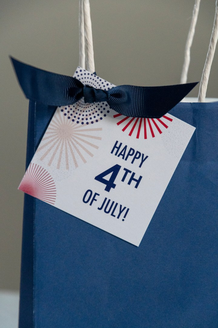 Free Printable July 4th Tags