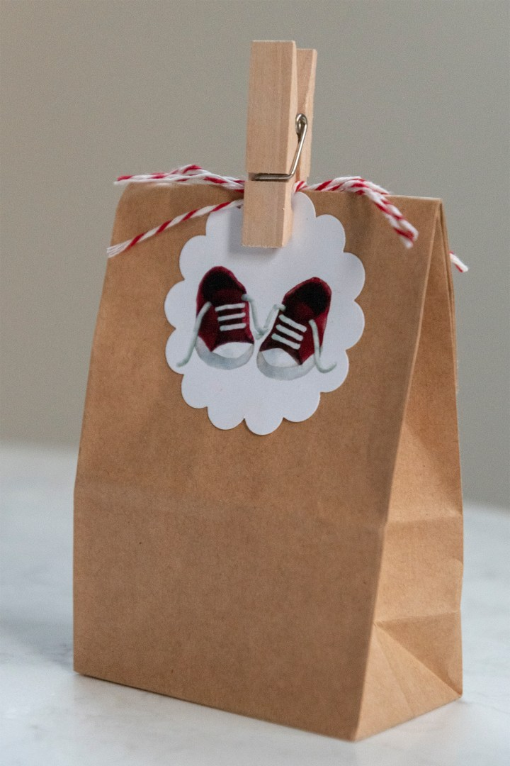 Free Printable Red Baby Shower Tags