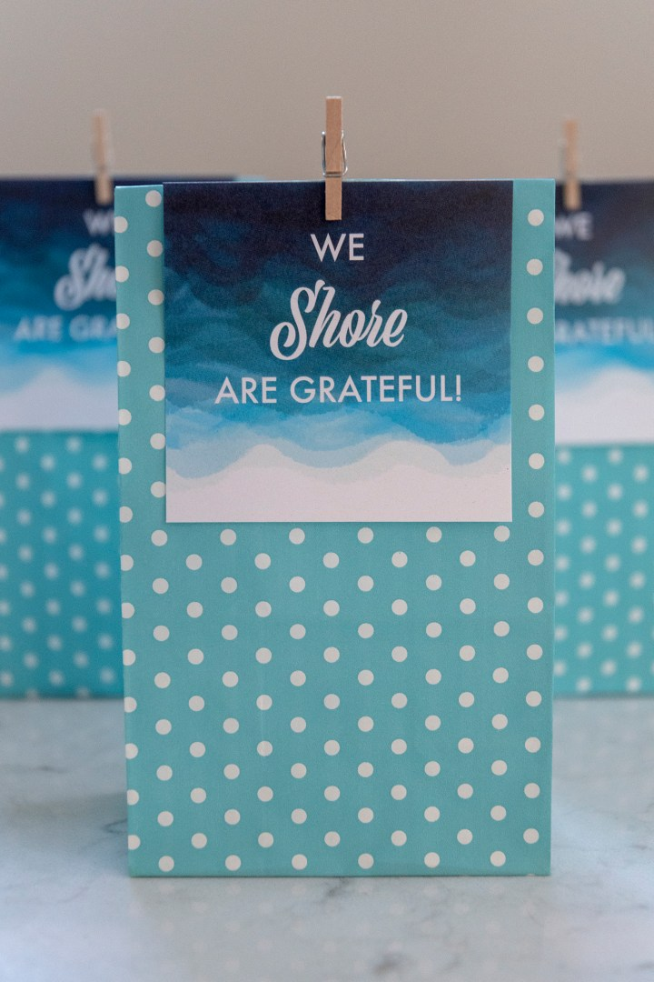 We Shore Are Grateful Free Printable Tags