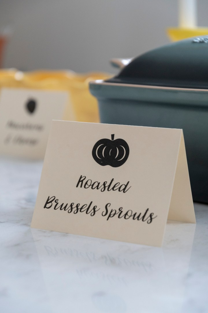 Free Printable Thanksgiving Buffet Cards