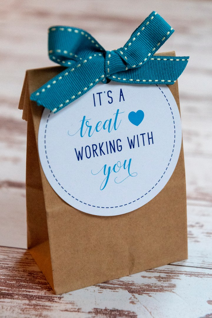 It's a Treat Working With You Gift Tags