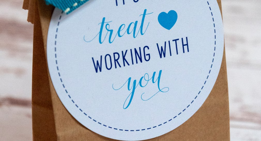 Free Printable It's.a Treat Working With You Gift Tags