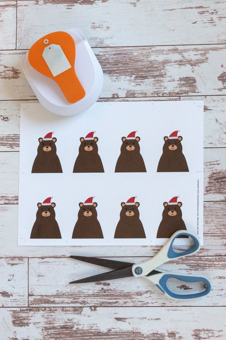 Free Printable Santa Bear Gift Tags