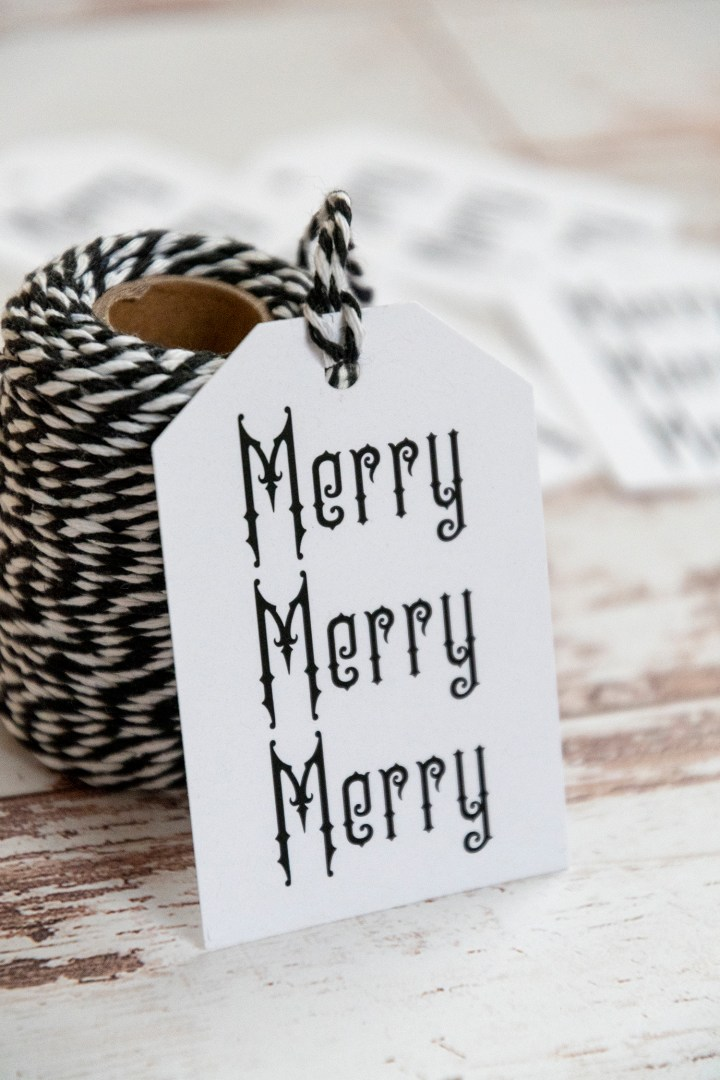 Merry Merry Merry Free Printable Christmas Gift Tags