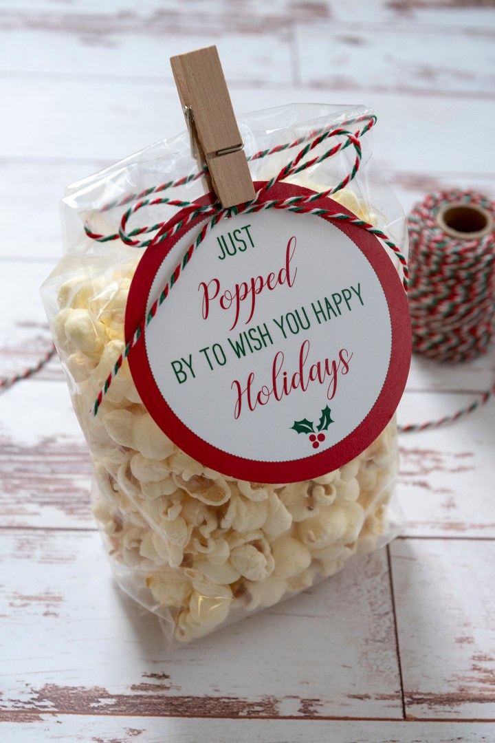 Just Popped By To Wish You Happy Holidays Gift Tags