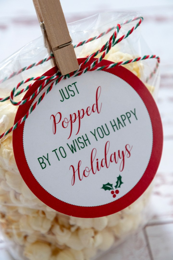 Just Popped By To Wish You Merry Christmas Free Printable Gift Tags